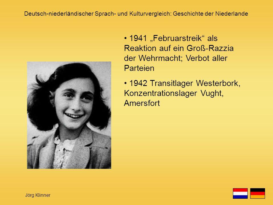 """1941 """"Februarstreik als Reaktion auf ein Groß-Razzia der Wehrmacht; Verbot aller Parteien"""