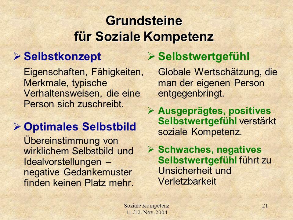 Grundsteine für Soziale Kompetenz
