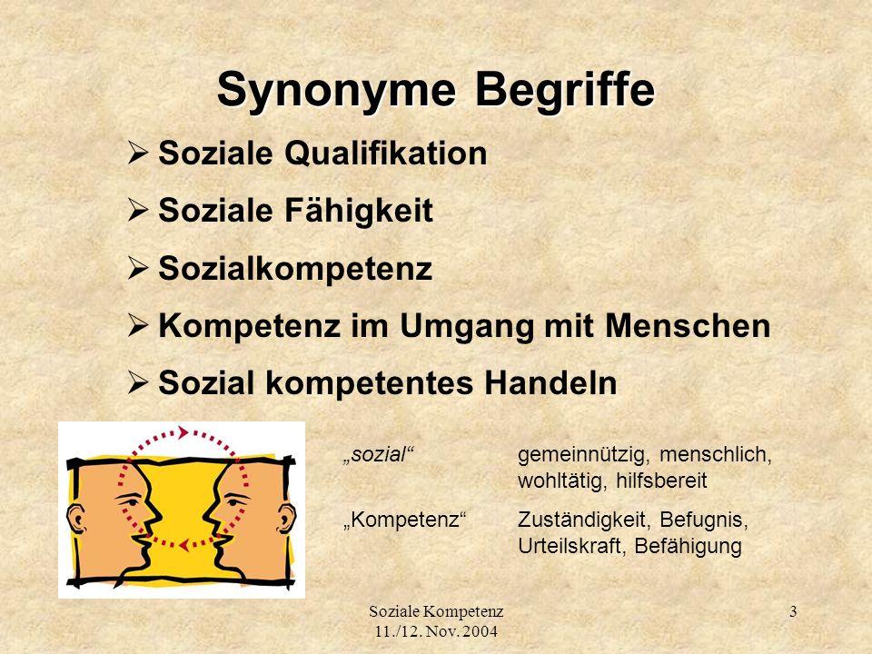 Synonyme Begriffe Soziale Qualifikation Soziale Fähigkeit