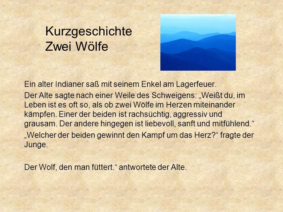 Kurzgeschichte Zwei Wölfe