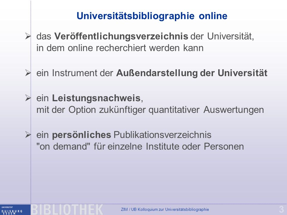 Universitätsbibliographie online