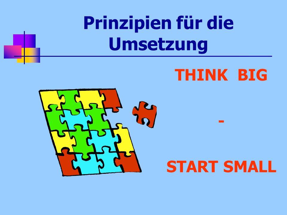 Prinzipien für die Umsetzung