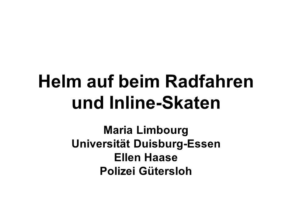Helm auf beim Radfahren und Inline-Skaten