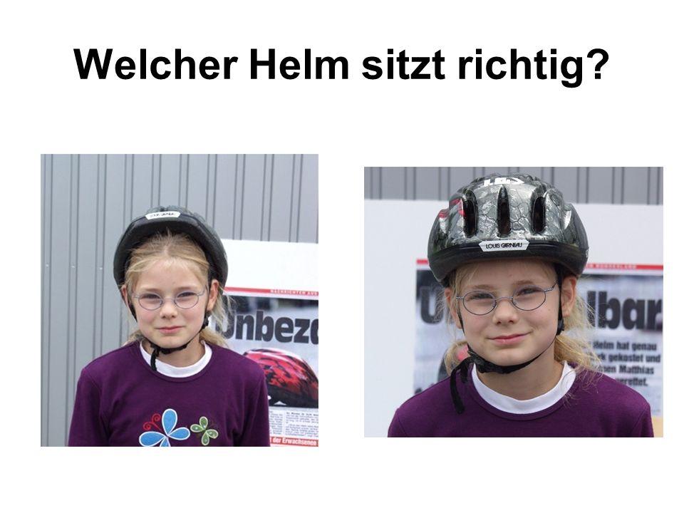 Welcher Helm sitzt richtig