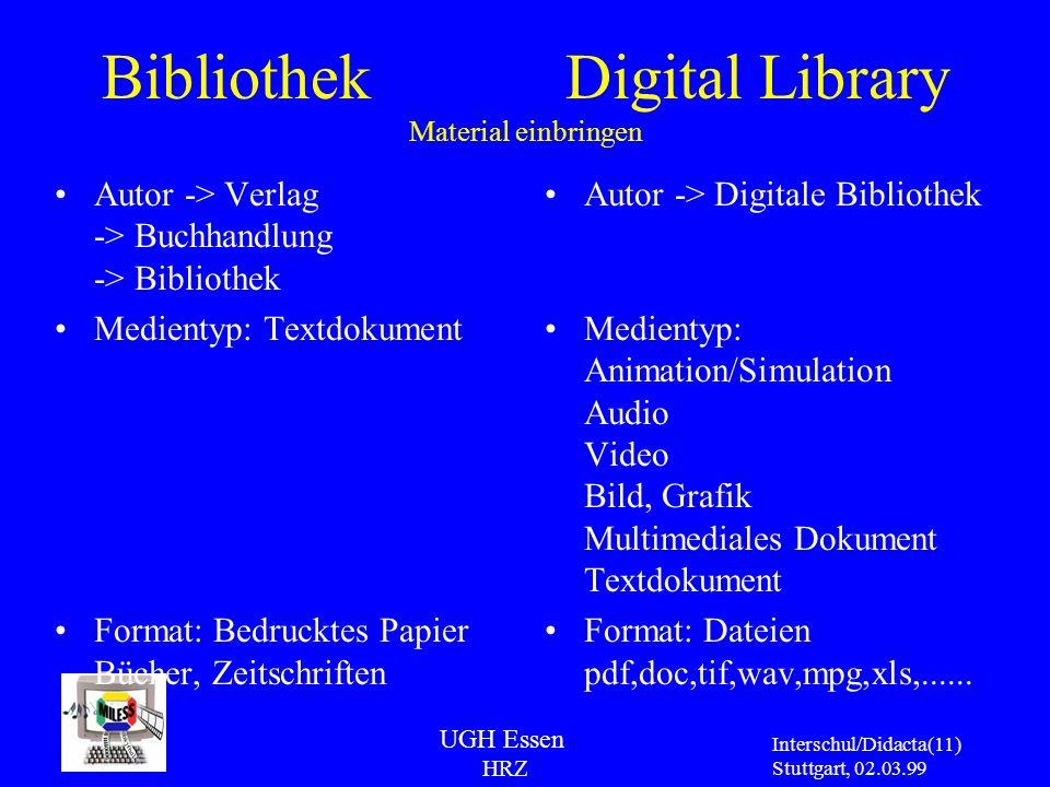 Bibliothek Digital Library Material einbringen