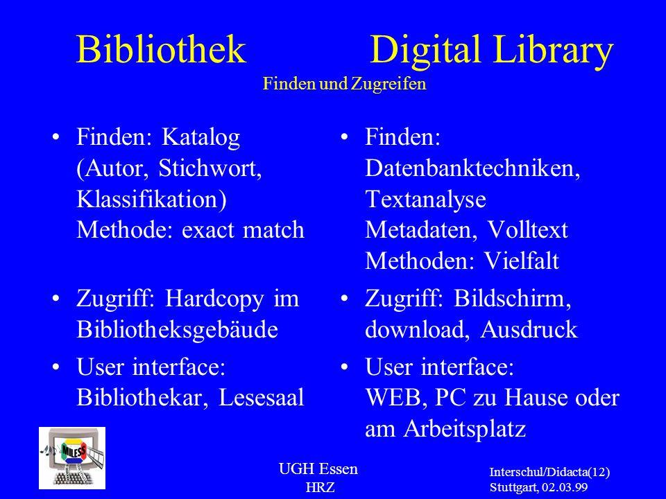 Bibliothek Digital Library Finden und Zugreifen