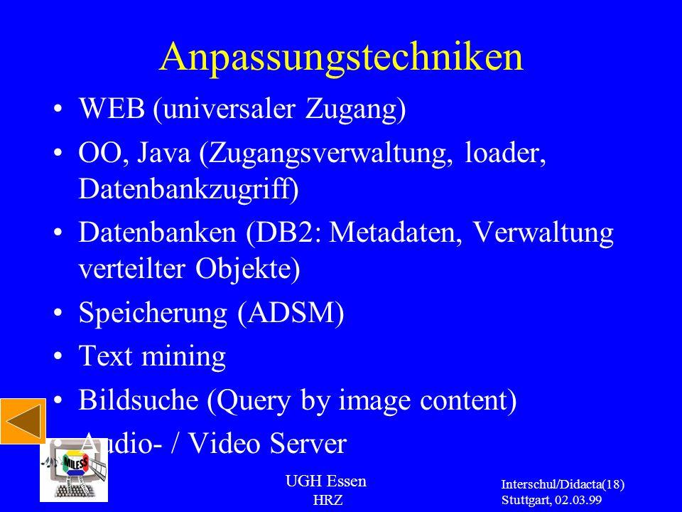 Anpassungstechniken WEB (universaler Zugang)