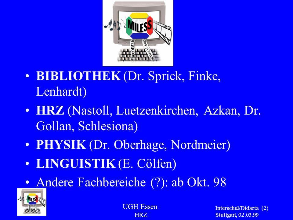 BIBLIOTHEK (Dr. Sprick, Finke, Lenhardt)