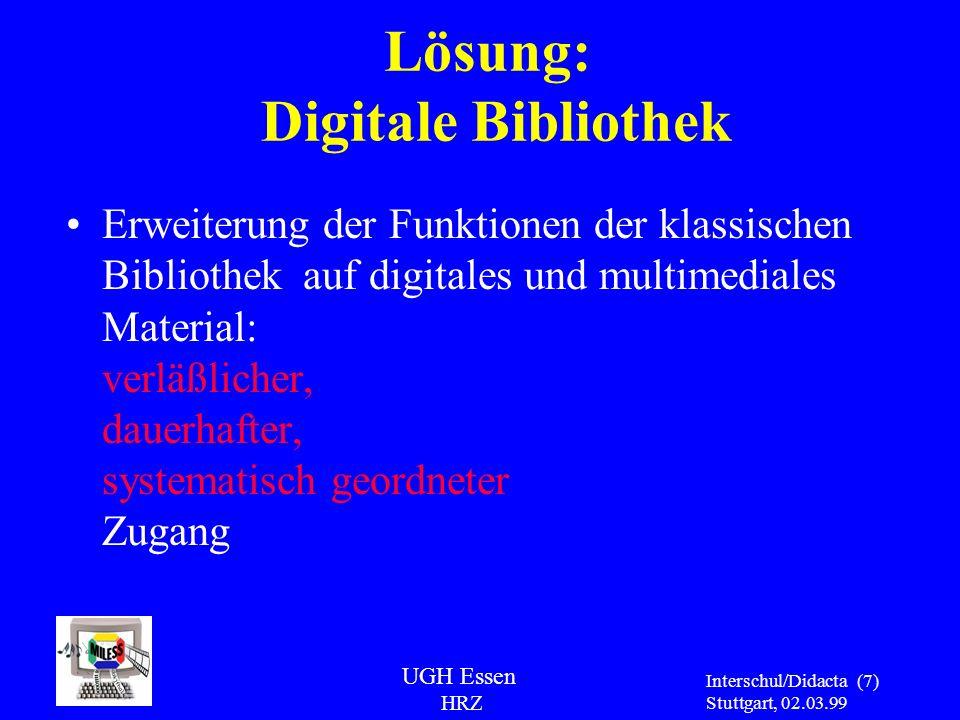 Lösung: Digitale Bibliothek