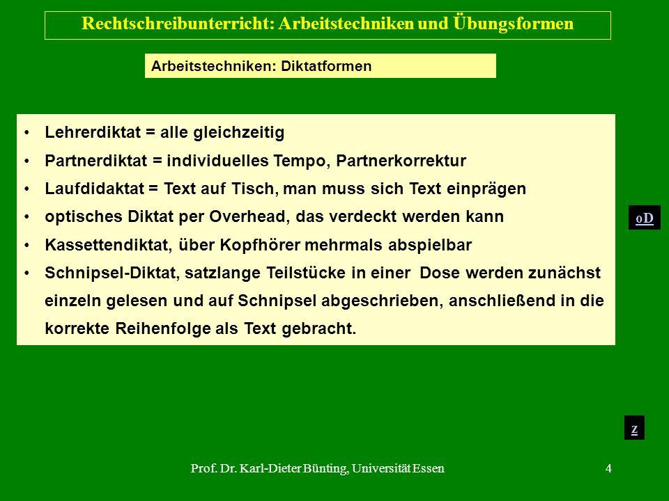 Rechtschreibunterricht: Arbeitstechniken und Übungsformen