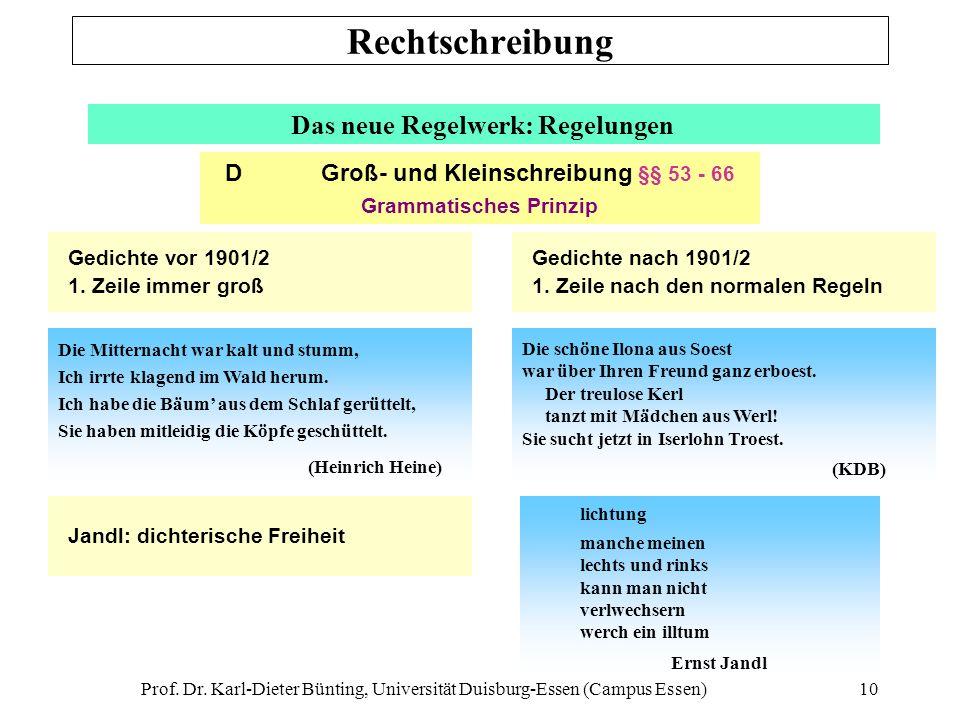 Rechtschreibung Das neue Regelwerk: Regelungen