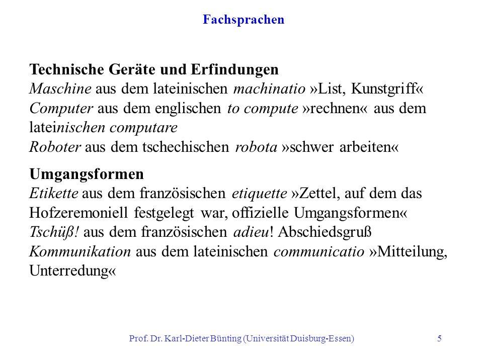 Prof. Dr. Karl-Dieter Bünting (Universität Duisburg-Essen)