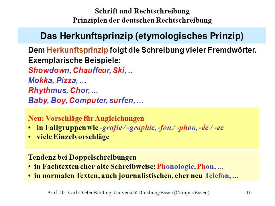 Das Herkunftsprinzip (etymologisches Prinzip)