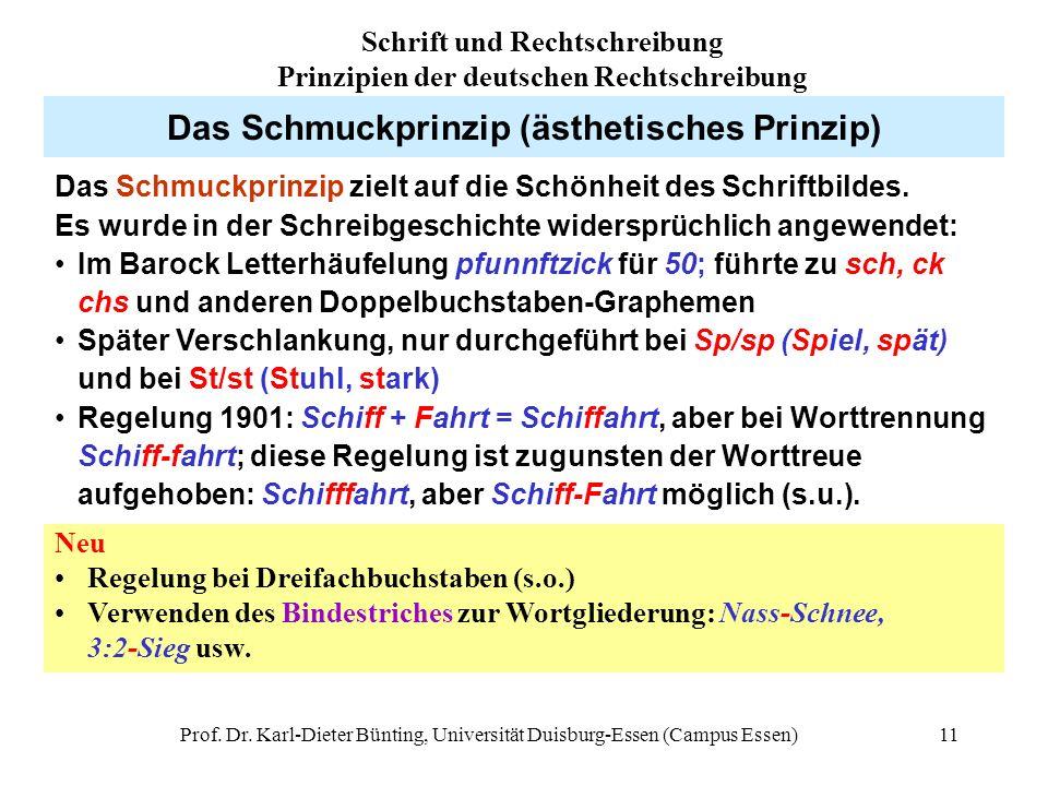 Das Schmuckprinzip (ästhetisches Prinzip)