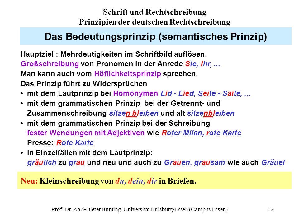 Das Bedeutungsprinzip (semantisches Prinzip)