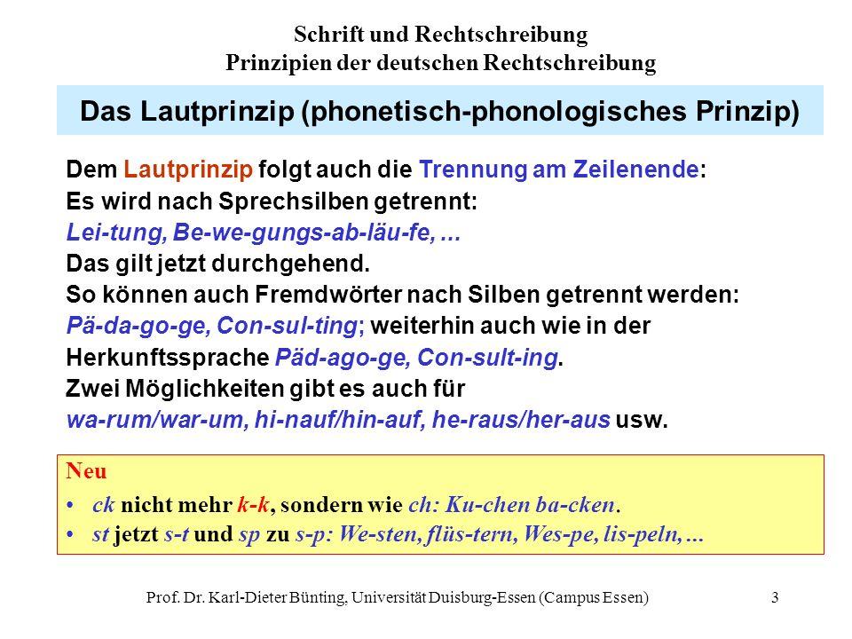 Das Lautprinzip (phonetisch-phonologisches Prinzip)