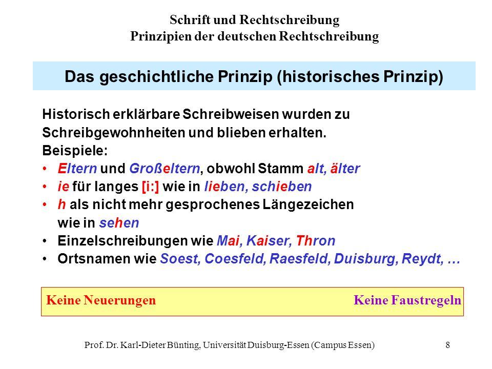 Das geschichtliche Prinzip (historisches Prinzip)