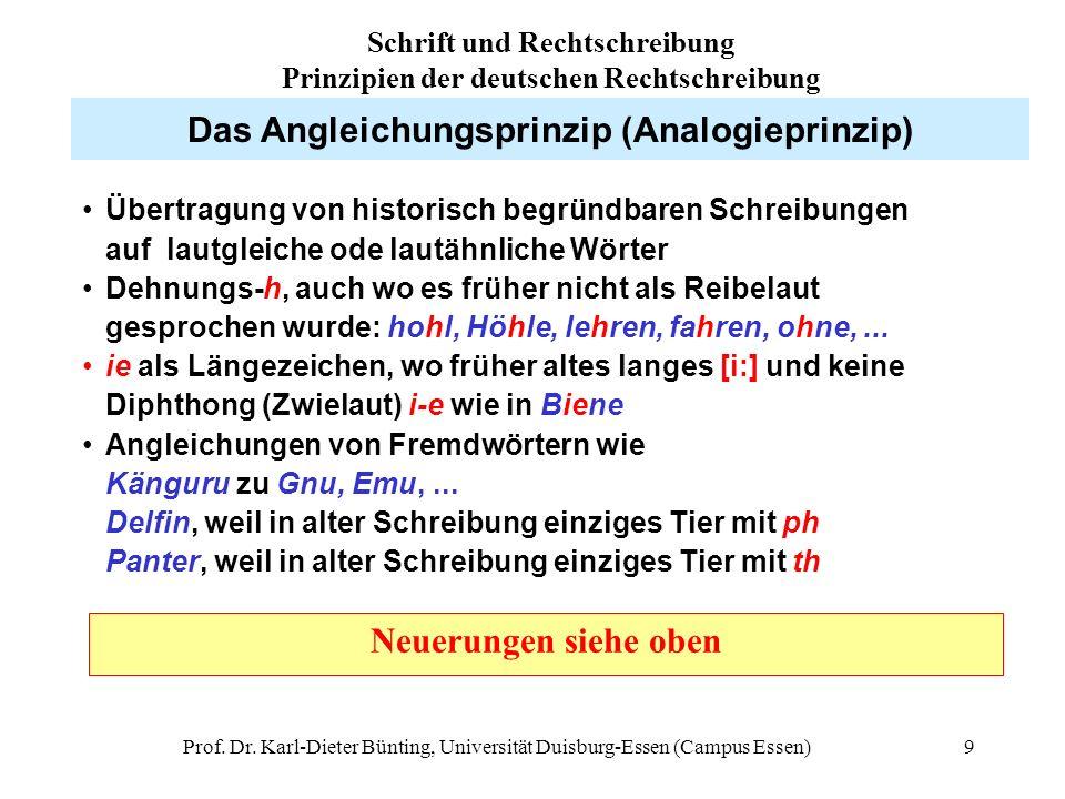 Das Angleichungsprinzip (Analogieprinzip)