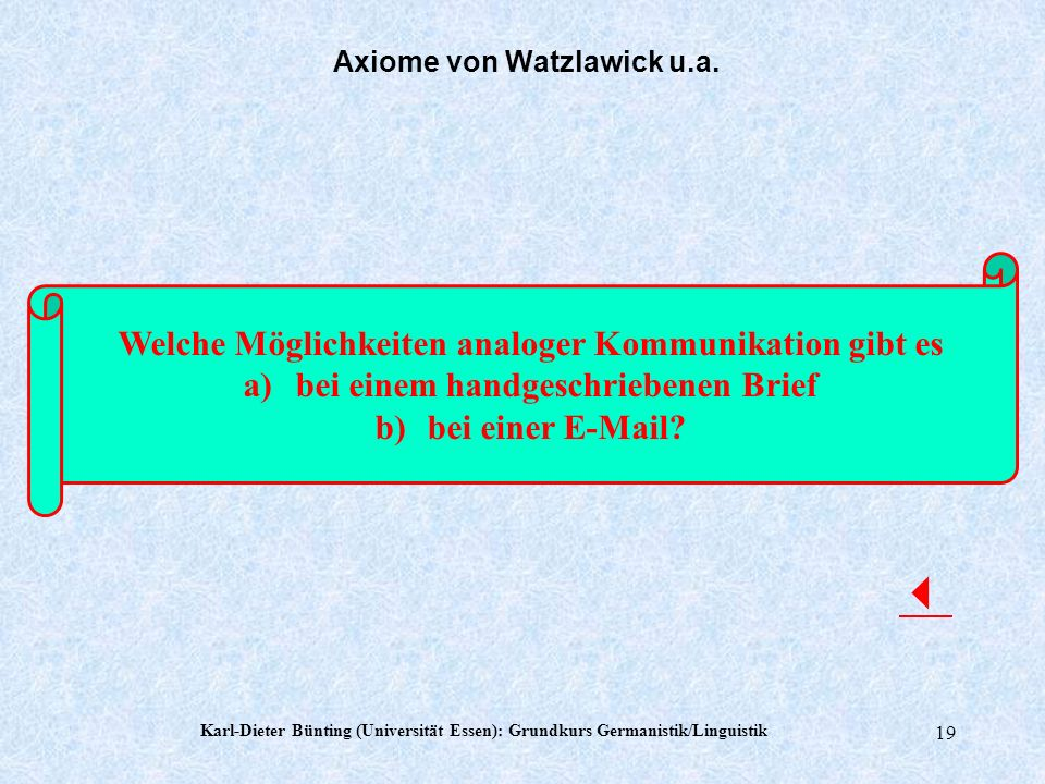 Axiome von Watzlawick u.a.
