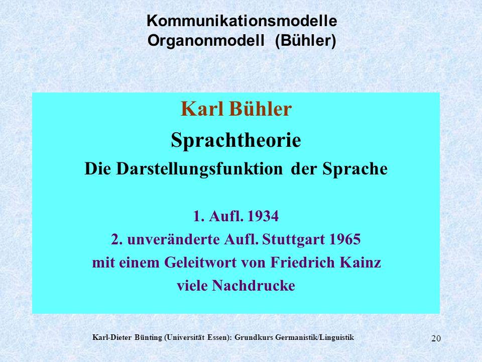Kommunikationsmodelle Organonmodell (Bühler)