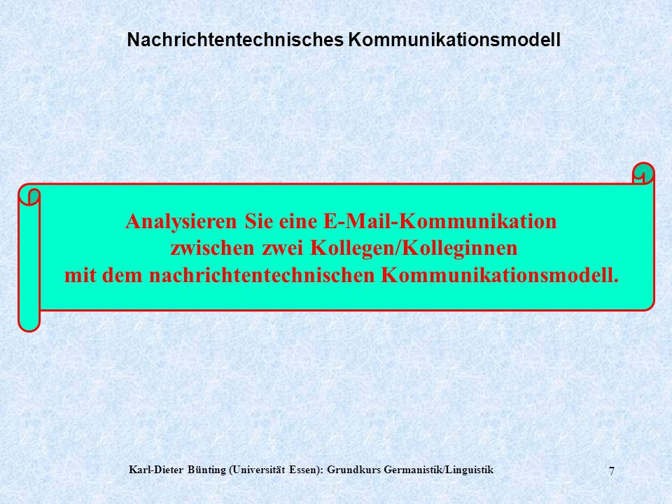 7Nachrichtentechnisches Kommunikationsmodell