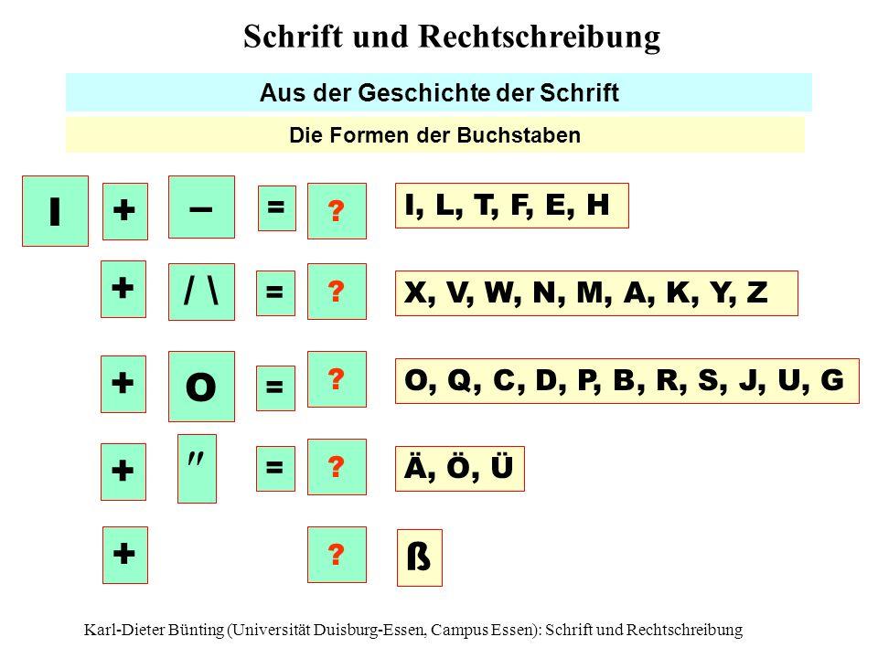 Aus der Geschichte der Schrift Die Formen der Buchstaben