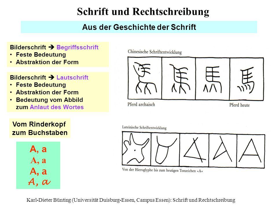 Aus der Geschichte der Schrift Vom Rinderkopf zum Buchstaben