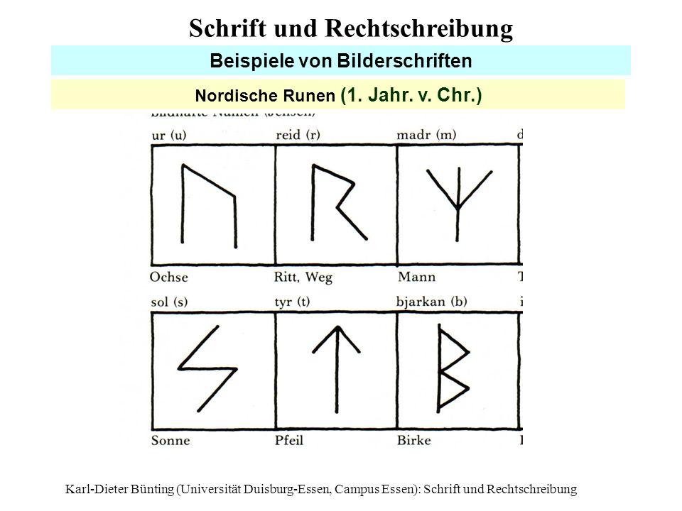 Beispiele von Bilderschriften Nordische Runen (1. Jahr. v. Chr.)