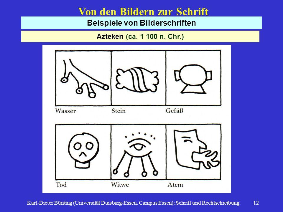 Beispiele von Bilderschriften