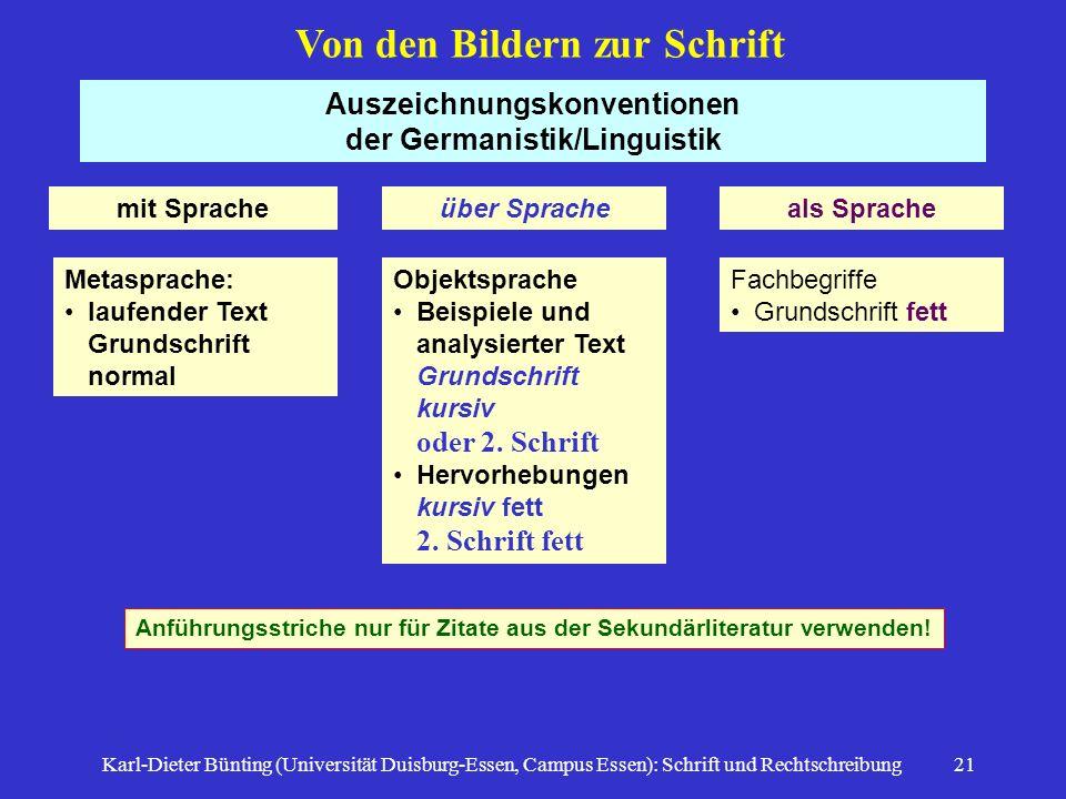Auszeichnungskonventionen der Germanistik/Linguistik