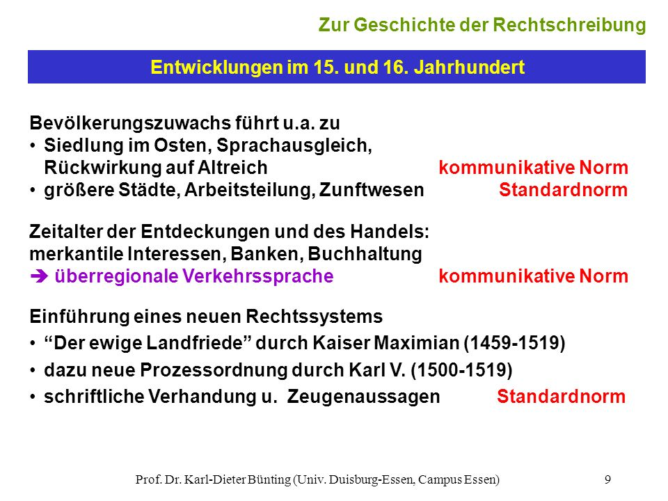 Zur Geschichte der Rechtschreibung