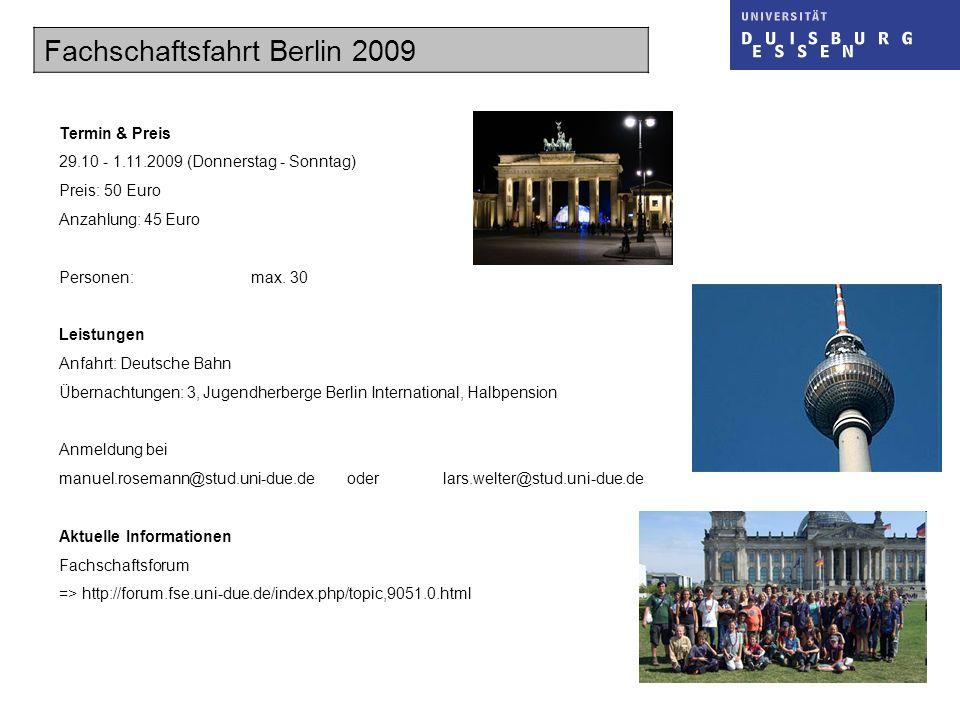 Fachschaftsfahrt Berlin 2009