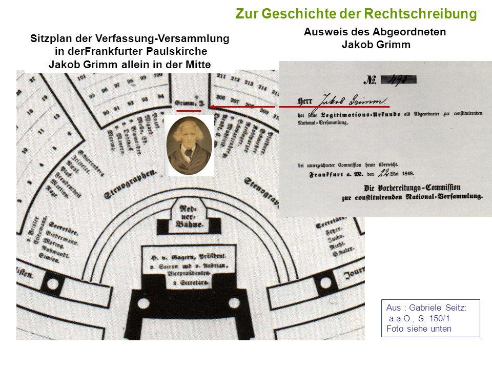 Ausweis des Abgeordneten Jakob Grimm