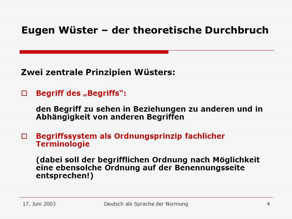 Eugen Wüster – der theoretische Durchbruch