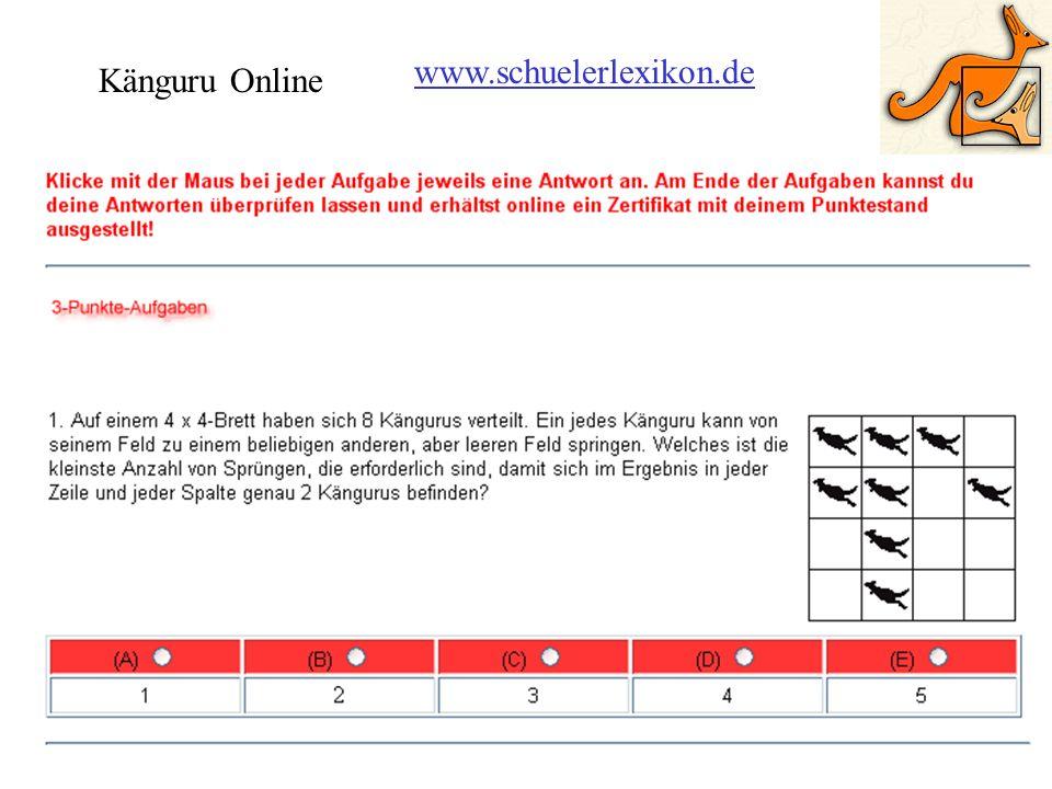 www.schuelerlexikon.de Känguru Online