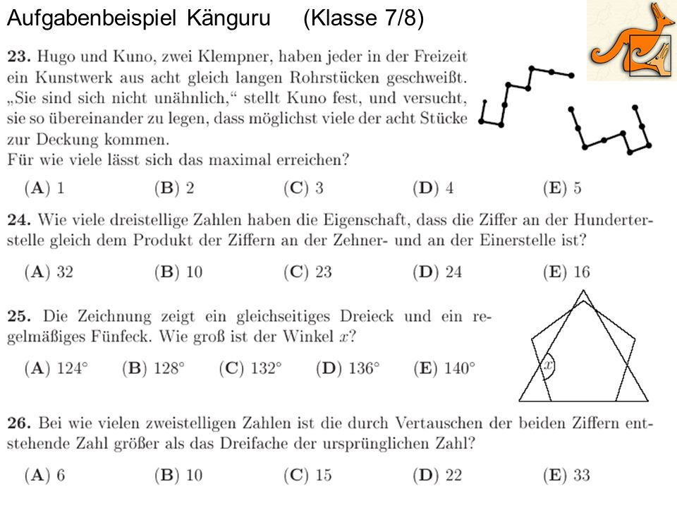 Aufgabenbeispiel Känguru (Klasse 7/8)