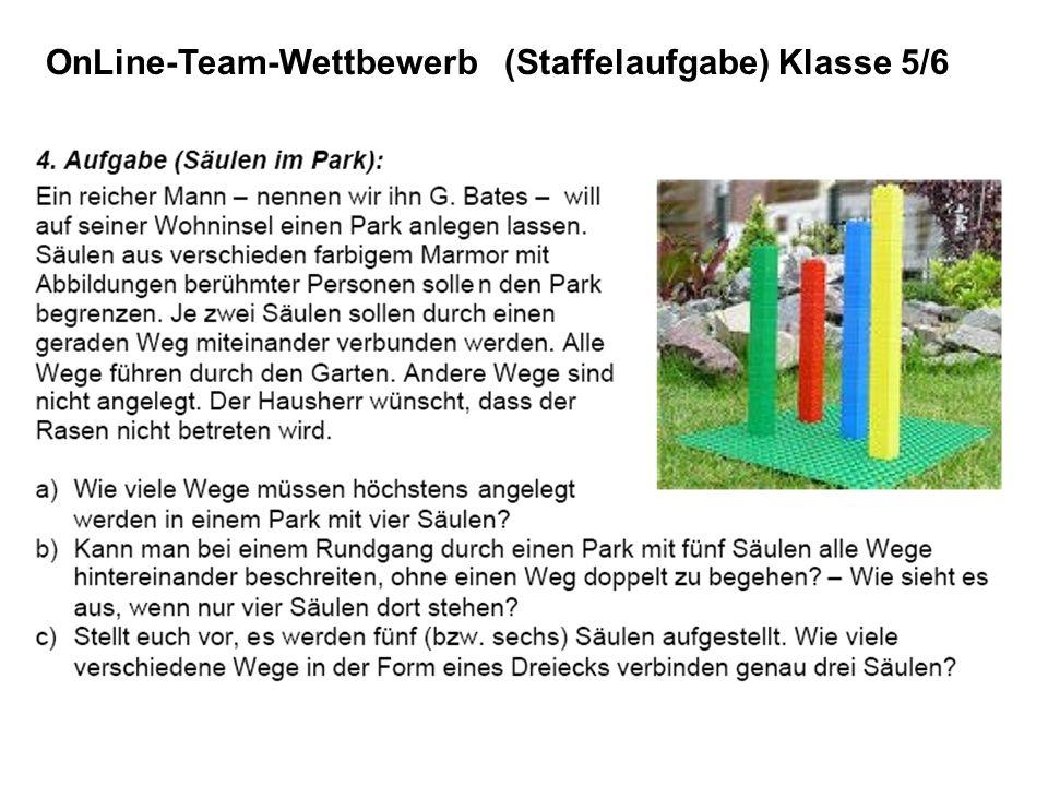 OnLine-Team-Wettbewerb (Staffelaufgabe) Klasse 5/6