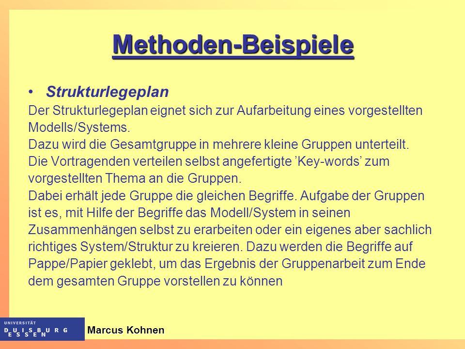 Methoden-Beispiele Strukturlegeplan