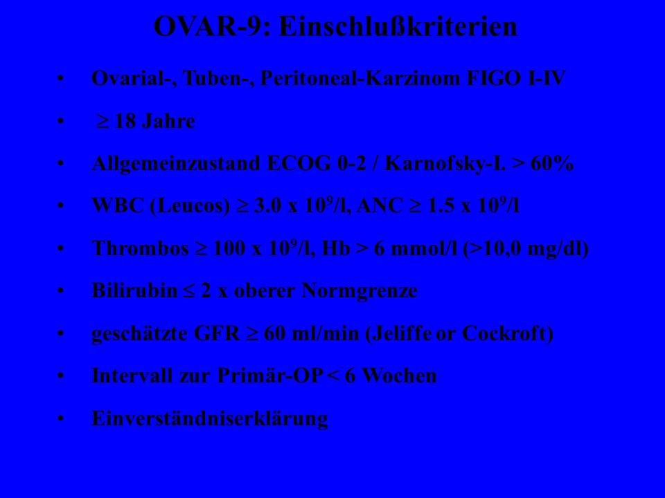 OVAR-9: Einschlußkriterien