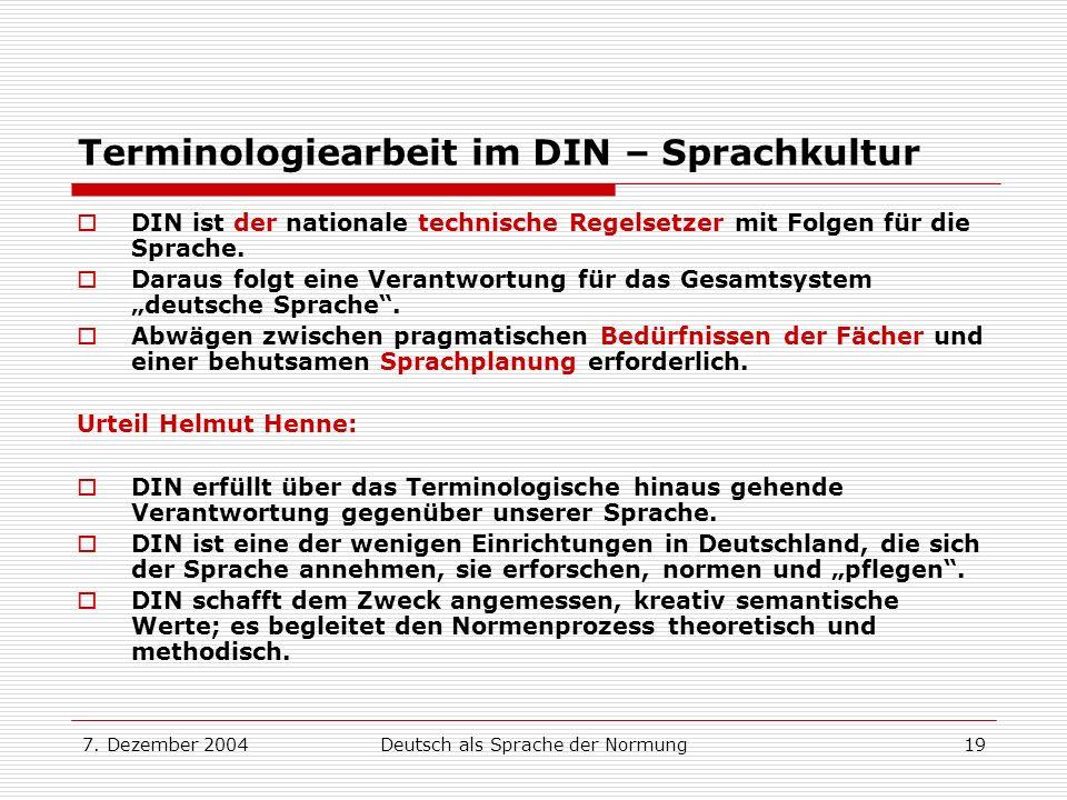 Terminologiearbeit im DIN – Sprachkultur