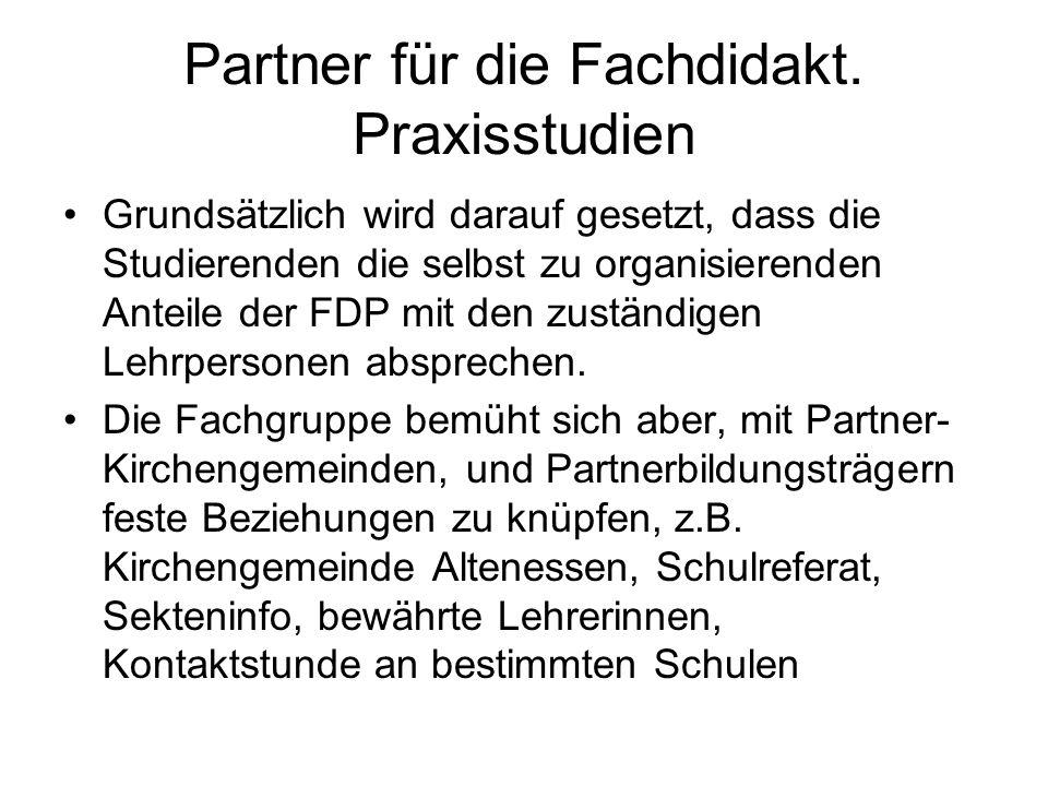 Partner für die Fachdidakt. Praxisstudien