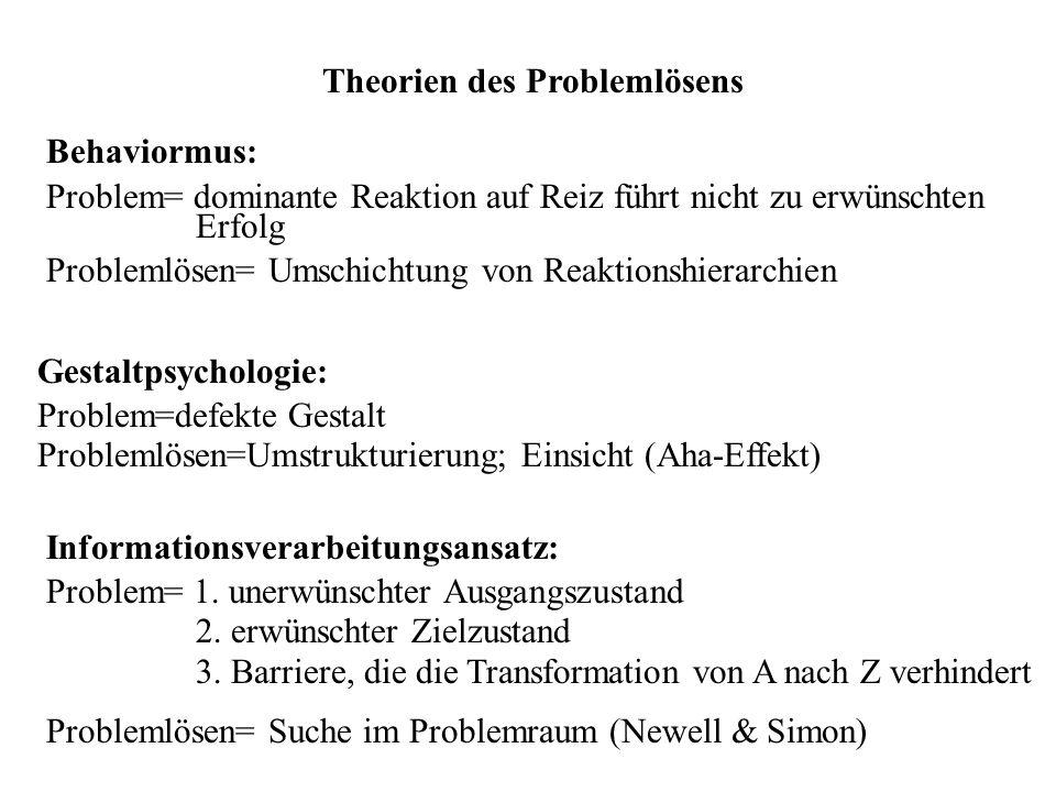 Theorien des Problemlösens
