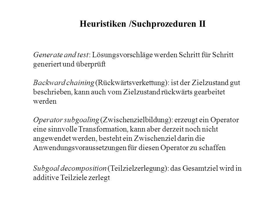 Heuristiken /Suchprozeduren II
