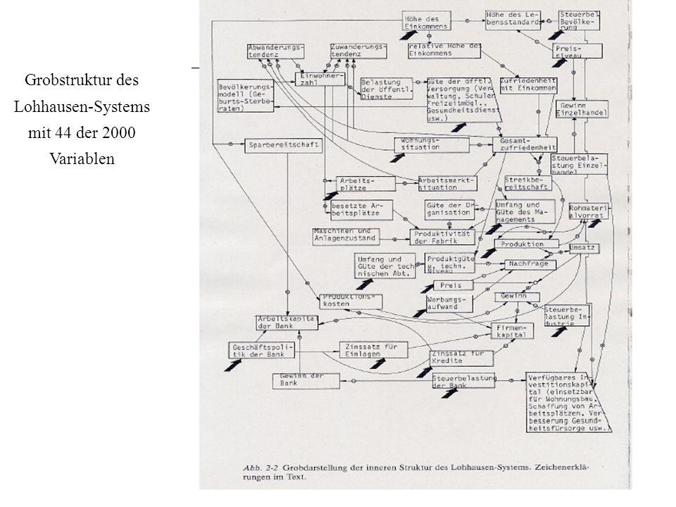 Grobstruktur des Lohhausen-Systems mit 44 der 2000 Variablen