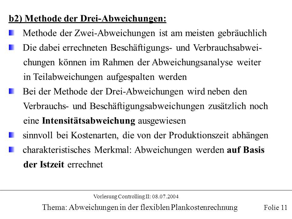 b2) Methode der Drei-Abweichungen: