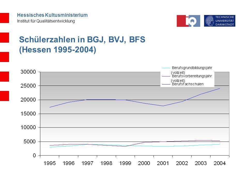 Schülerzahlen in BGJ, BVJ, BFS (Hessen 1995-2004)