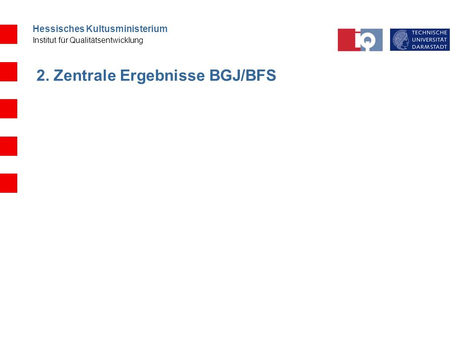 2. Zentrale Ergebnisse BGJ/BFS