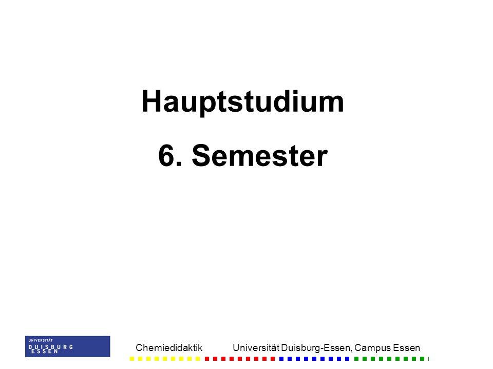 Hauptstudium 6. Semester