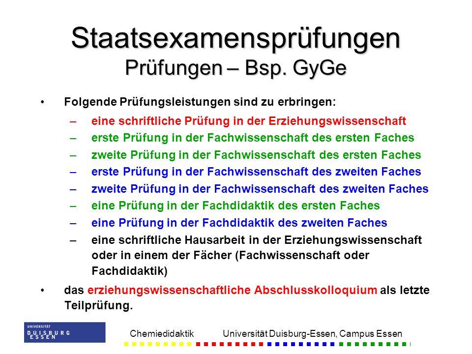 Staatsexamensprüfungen Prüfungen – Bsp. GyGe