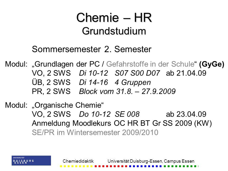 Chemie – HR Grundstudium